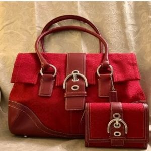 Coach Satchel with matching wallet